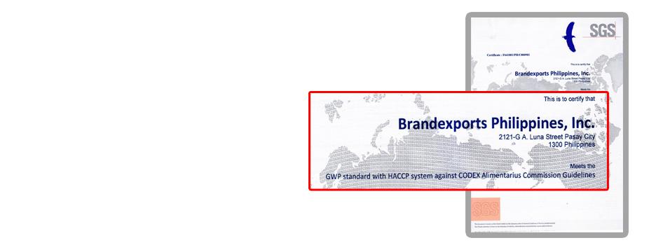 SGS  Philippines Inc.  Certification